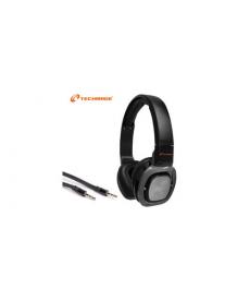 TechMade - CUFFIE MULTIMEDIALI CON MICROFONO TM-H006 BLACK