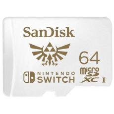 SANDISK AND NINTENDO COBRANDED MICROSDXC SQXAT 64GB V30 U3 C10 A1, UHS-1, 100MB/S R, 60MB/S W, 4X6, LIFETIME LIMITED