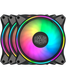 COOLER MASTER - Kit 3 Ventole MF120 Halo 120mm Dual Loop ARGB con controller