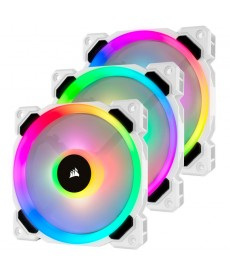 CORSAIR - LL120 RGB White Ventola 120mm Kit 3pz con Lighting Node Pro
