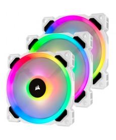 CORSAIR - LL120 RGB White Ventola 120mm Kit 3pz con Lighting Node Pro