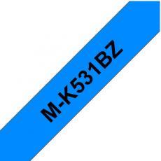 NASTRO TIPO M NERO SU BLU 12MM LUNGHEZZA 8 METRI PTOUCH 65