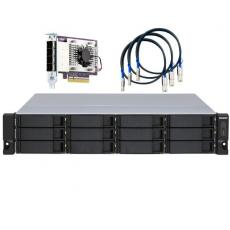 12-bay 2U rackmount SATA JBOD expansion unit redundant PSU