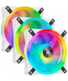 CORSAIR - QL120 RGB White Kit 3 x Ventole 120mm con Lighting Node Pro