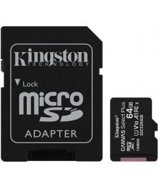 KINGSTON - MICRO SD 64GB Class V10 UHS-I + Adapter 100MB/s