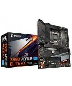 GIGABYTE - Z590 Aorus Elite AX WiFi DDR4 Triple M.2 ATX Socket 1200