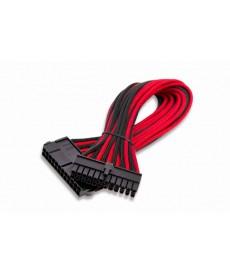 ITEK - Cavo alimentazione Sleevato ATX 24Pin Femmina a 24Pin Maschio, 300mm, Nero Rosso