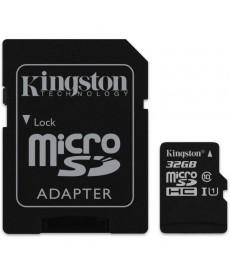 KINGSTON - MICRO SDHC 32GB Class 10 UHS-I + Adapter