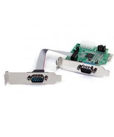 STARTECH - Scheda PCI Express seriale nativa basso profilo a 2 porte RS-232 con 16950 UART - PCI Express