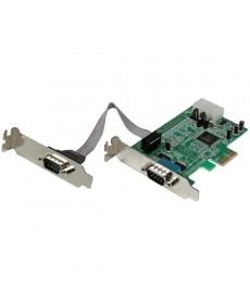 STARTECH - Scheda PCI Express seriale nativa basso profilo a 2 porte RS-232 con 16550 UART - PCI Express
