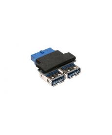 ADATTATORE USB 3.0 2X TYPE-A F A IDC 19PIN M X SCHEDA MADRE