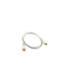 CAVO HDMI 2.0 4K 1mt Connettori dorati WHITE