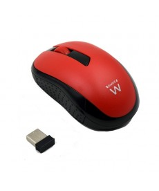EWENT - MOUSE OPTICAL WIRELESS 1000DPI ROSSO
