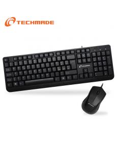TechMade - KIT TASTIERA E MOUSE USB PK938P