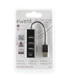 HUB USB 2.0 4 PORTE NERO