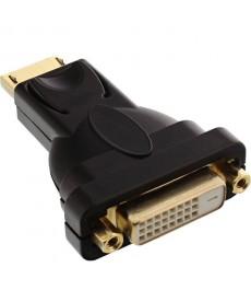 NO BRAND - ADATTATORE DISPLAYPORT 20PIN M A DVI-D 24+1 PIN F 4k