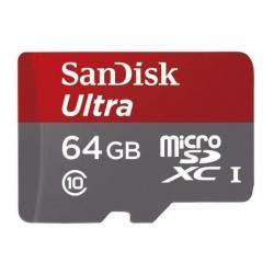 SANDISK - MICROSDHC 64GB + SD ADAPTER