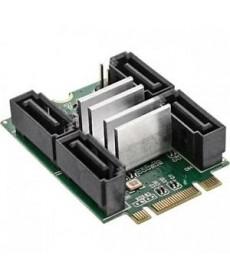 INLINE - SCHEDA MINI PCIE 2.0 M.2 A 4 SATA 6GB RAID 0,1,10,JBOD