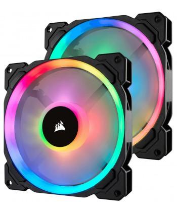 CORSAIR - Kit 2 x LL140 Ventola Led RGB 140mm PWM + controller Lighting Node Pro