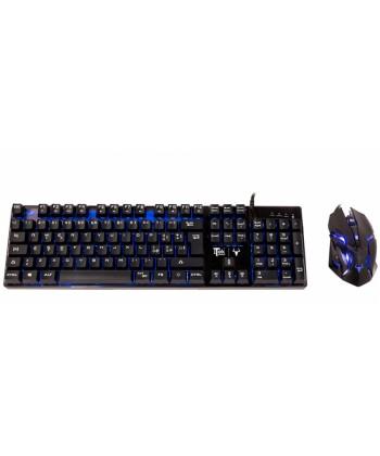 ITEK - Taurus T15M1 Kit Tastiera retroilluminata mouse Gaming 2400DPI