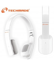 TechMade - CUFFIE BLUETOOTH BIANCA CON MICROFONO