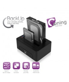 EWENT - DOCKING STATION 2 BAY USB 3.1