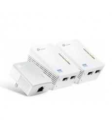 TP-LINK - KIT Powerline 500Mbps Wireless N300 TL-WPA4220T KIT (2WiFi+1Lan)