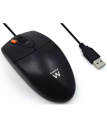 EWENT - MOUSE OTTICO USB/PS2 BLACK