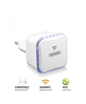 EMINENT - MINI EXTENDER WIFI 300MBPS WPS+1 ETHERNET