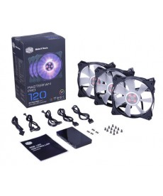 COOLER MASTER - Kit 3 Ventole 120x120 MasterFan Pro 120 Air Flow RGB + controller