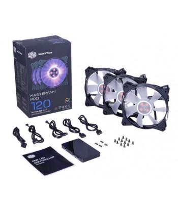 COOLER MASTER - Kit 3 Ventole 120x120 MasterFan Pro 120 Air Flow RGB + controller