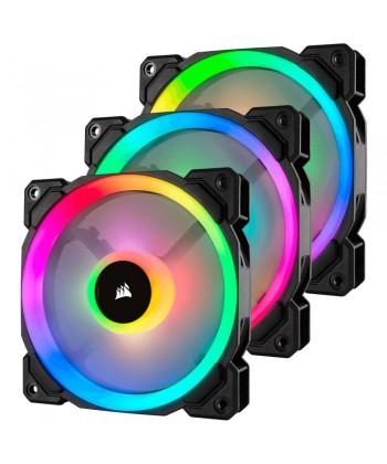 CORSAIR - LL120 Kit 3 x Ventola Led RGB Dual Light Loop 120x120 PWM