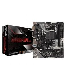 ASROCK - B450M-HDV R4.0 DDR4 M.2 Micro-ATX Socket AM4