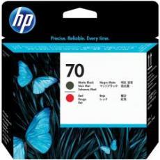 Testina di stampa HP 70, nero opaco e rosso