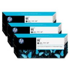 Confezione multipla da 3 inchiostri HP 91 nero opaco: 3 cartucce da 775 ml, da non vendersi separatamente