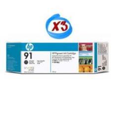 Confezione multipla da 3 inchiostri HP 91 nero fotografico: 3 cartucce da 775 ml, da non vendersi separatamente