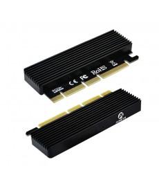 NO BRAND - Adattatore da PCI-Express 16x a PCIe NVMe con dissipatore