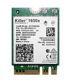 INTEL - Killer AX1650 WiFi- 6 Gaming + Bluetooth 5.0 M.2