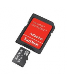 MICROSDHC 32GB CARD + SD ADAPTER