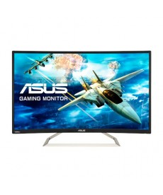 "ASUS - VA326H 31.5"" FullHD VA Curved 1800R 144Hz - 4ms Audio Gaming Monitor"