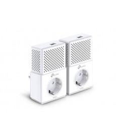 TP-LINK - KIT 2 Powerline AV1000 con porta Gigabit e presa passante