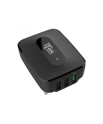 ITEK - Alimentatore USB 3 Porte - 2 USB Smart + 1 USBQC 3.0 25W ricarica rapida